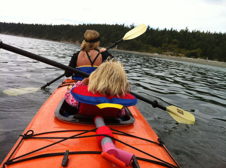 Kayaking with kids in Seattle