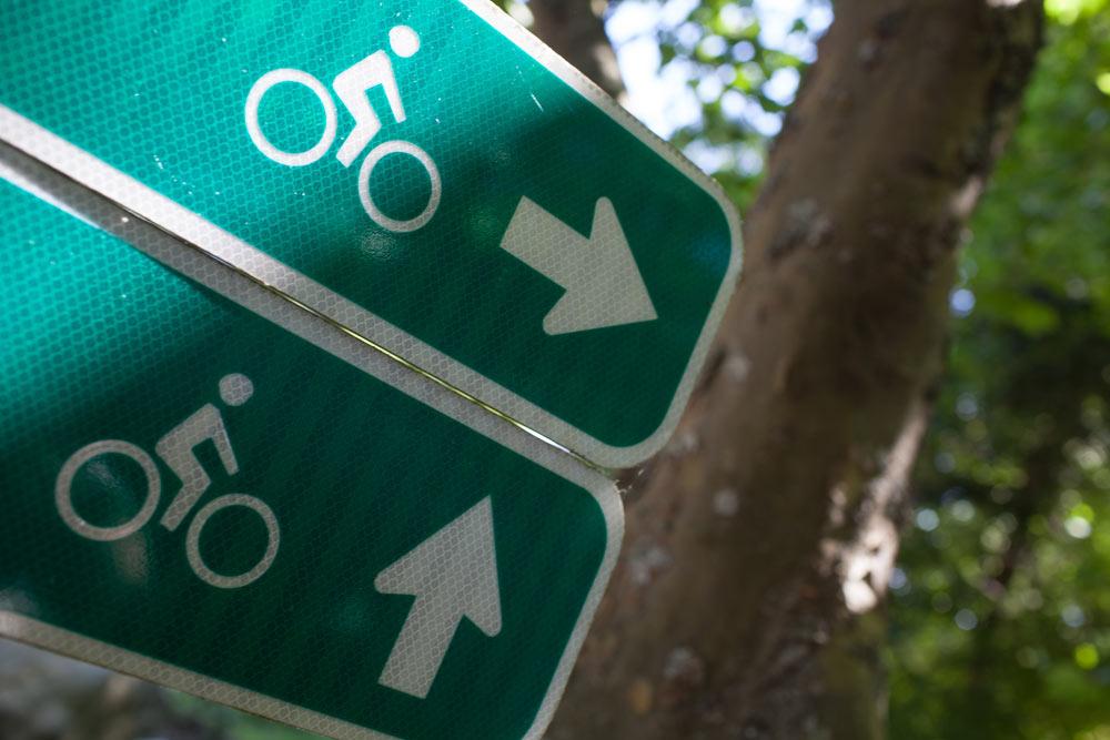 Bike wayfinding signs