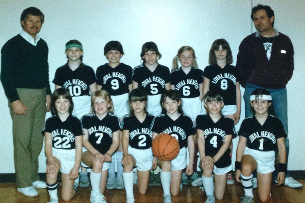 Little Emily Basketball team