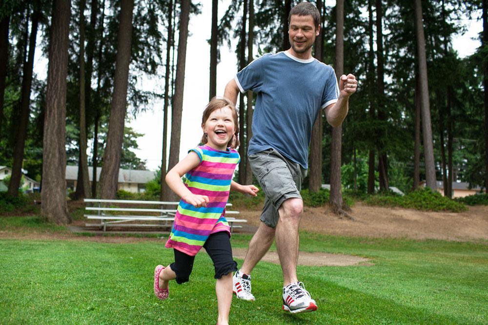 Run through the fields with kids