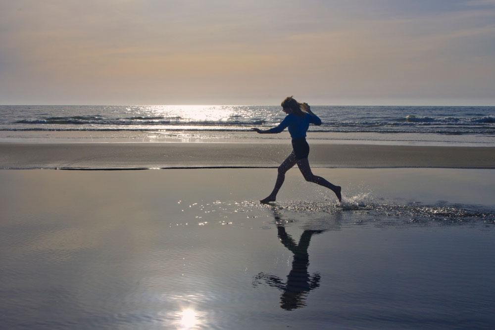 Oregon Coast beach walk