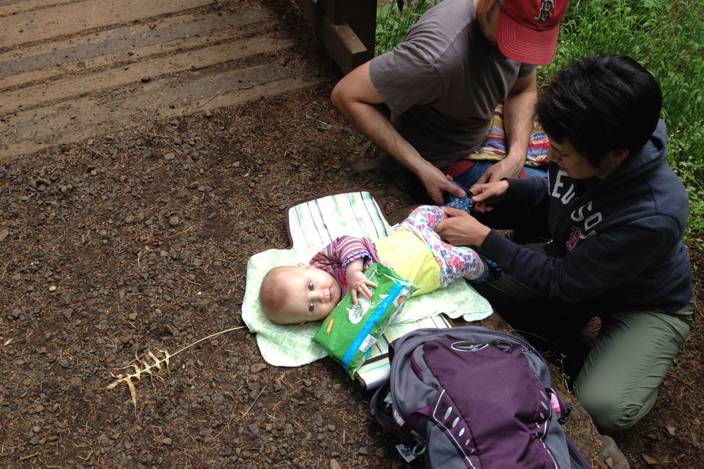Hike it Baby and nurse baby on the trail