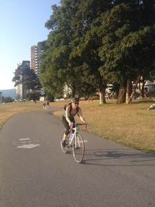 Johanna Dokken on bike