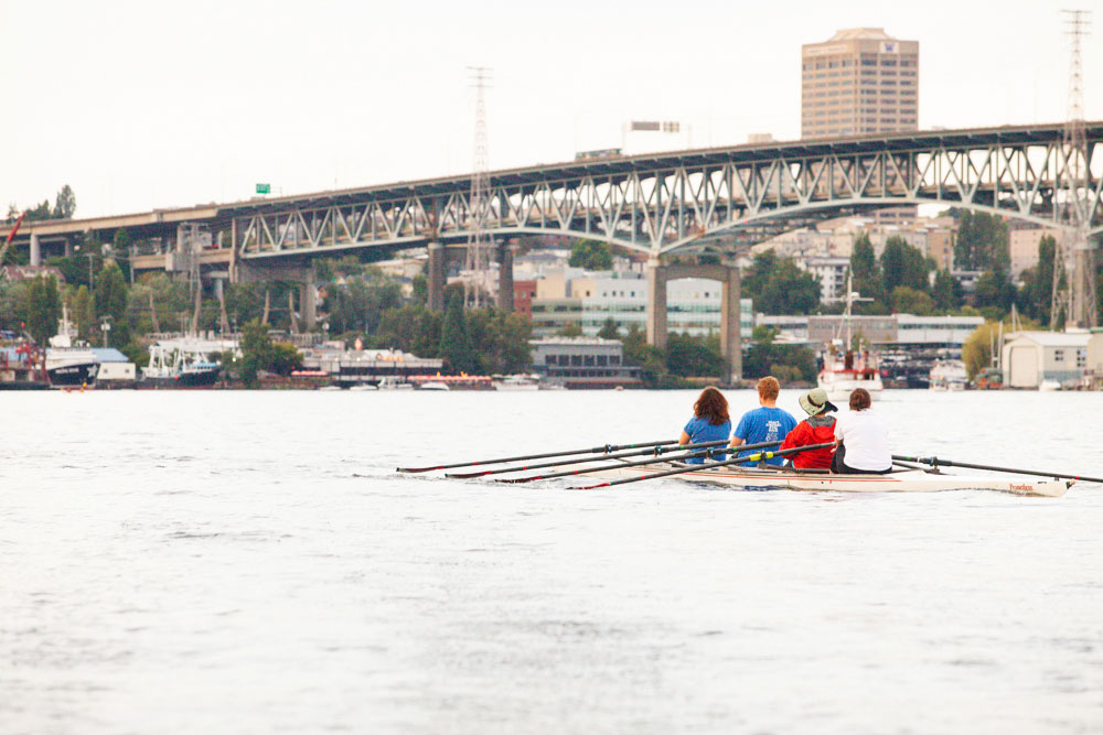 water workouts rowing