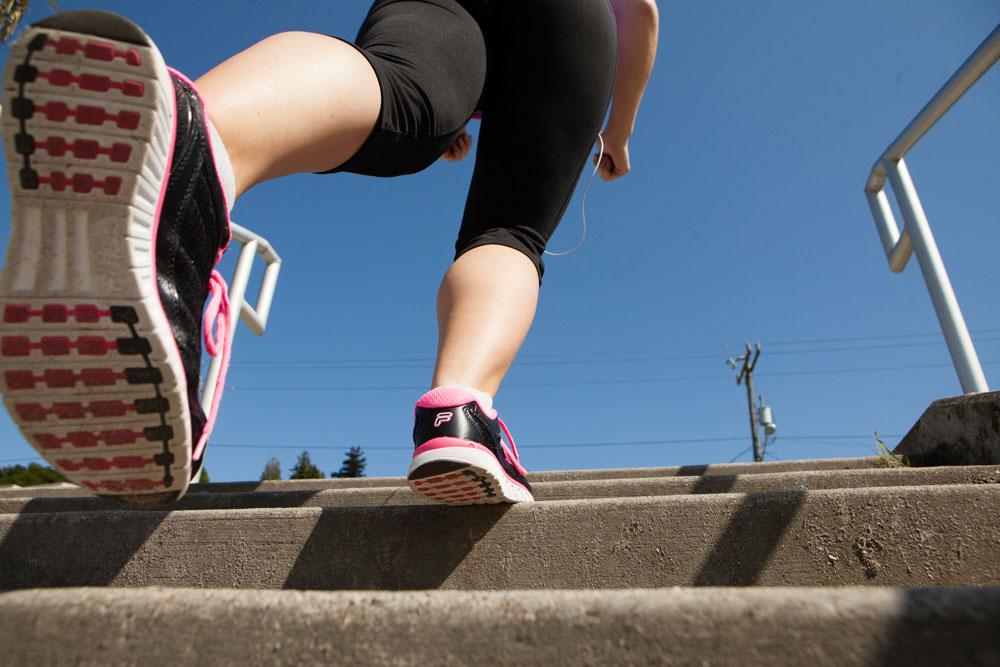 West Seattle's Alki Beach stair climbing