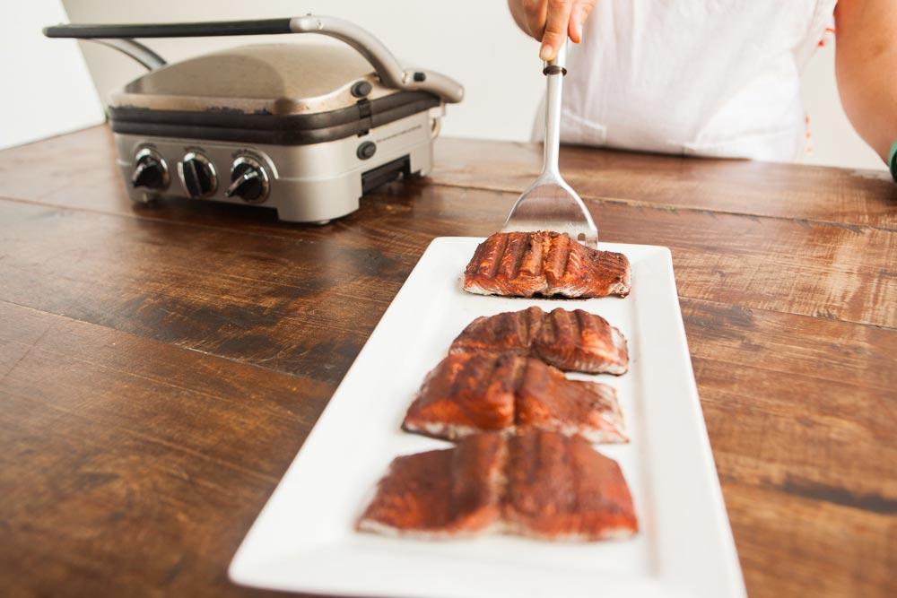 Cocoa Salmon serve