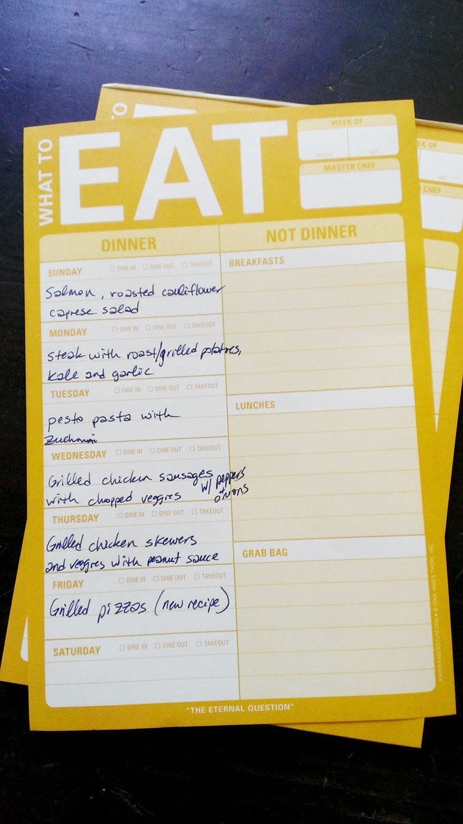 Weeknight Meal Planning meal planner