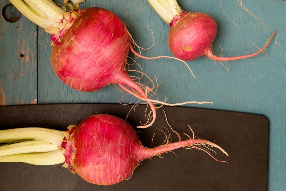 Northwest Fall Produce Turnips