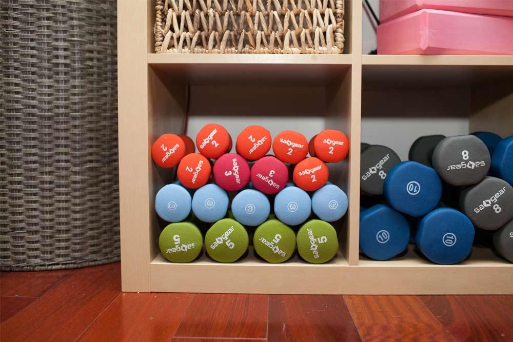 indoor workout dumbells