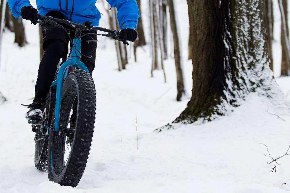 snow in washington fat biking