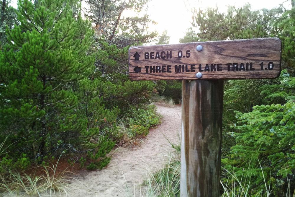 Coastal Hike Three Mile Lake