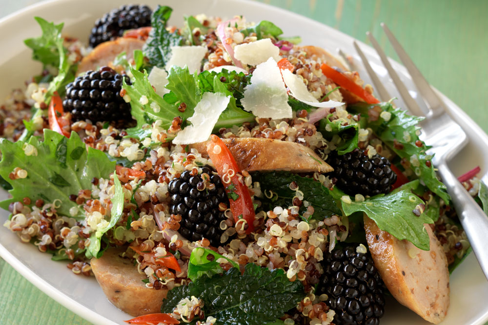 Tuscan Quinoa and Blackberry Salad