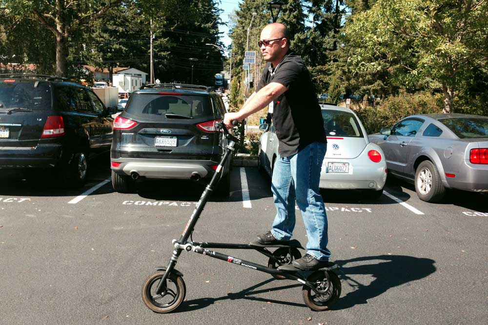 commute transportation trikke