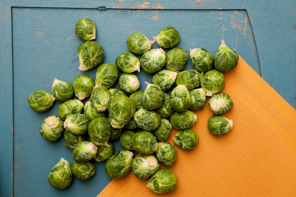 Northwest Fall Produce Brussels Sprouts