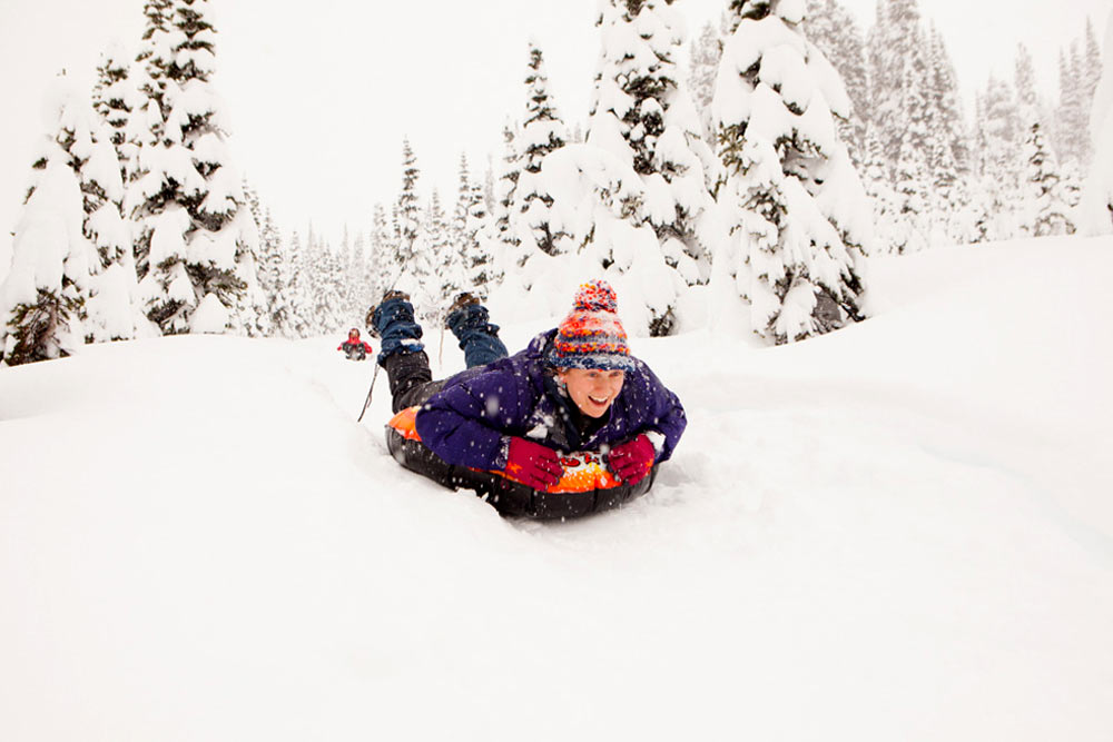 sledding in winthrop