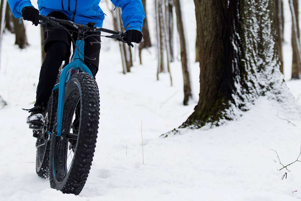 snow in washington fat biking